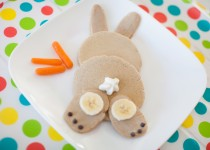 Easter Bunny Carrot Cake Pancakes