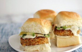 Nutra-Ease-Sweet-Potato-Slider with Lemon Garlic Aioli