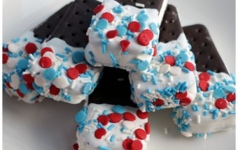 Red, White & Blue Mini Ice Cream Sandwich Treats