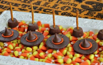 Easy Halloween Treats Witches Hats and Brooms