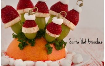 Santa Hat Grinch Appetizers