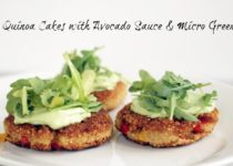 Quinoa Cakes with Avocado Sauce