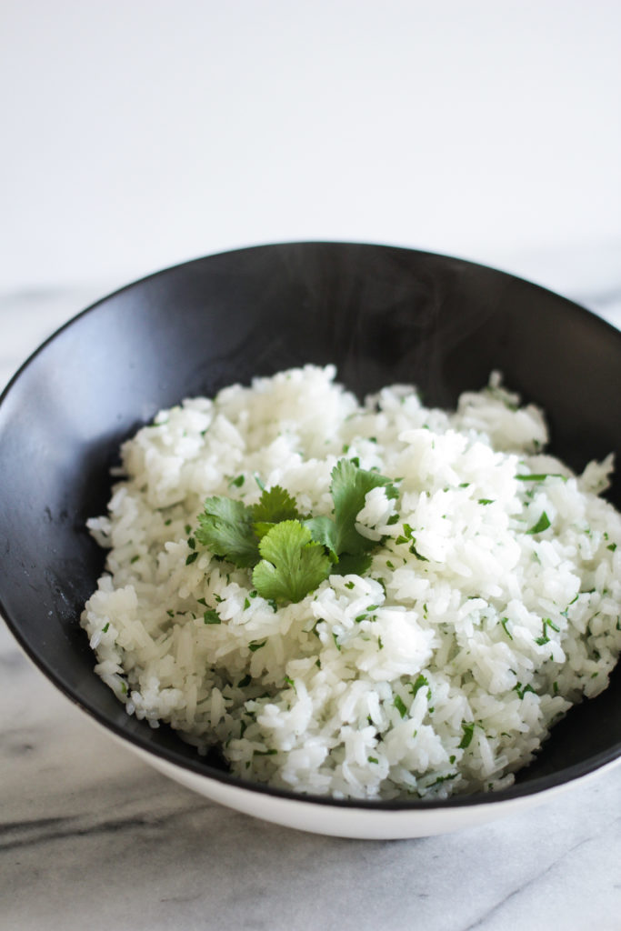 recipe for nutra ease waterless greaseless cookware cilantro lime rice