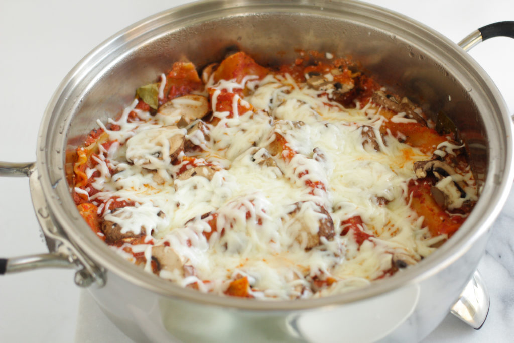 Nutra Ease Electric Skillet Lasagna recipe finished