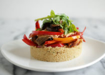 Couscous Salad with Portobello Mushrooms